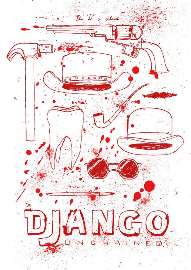 Made by Marianne Lock / Alternative Movieposter / Django Unchained / Film / Poster / FOR SALE