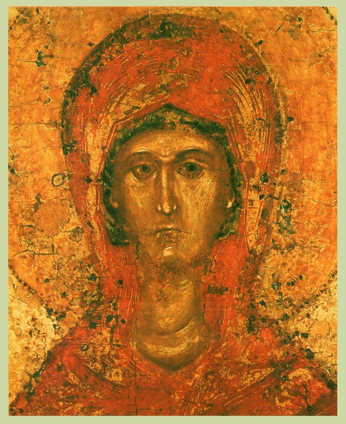Фрагмент XIV-XV в. ПАРАСКЕВА ПЯТНИЦА С ЖИТИЕМ