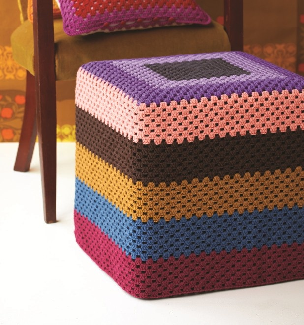 88 Best Images About Ottomans On Pinterest: 88 Best Images About Crochet Covered Footstools On