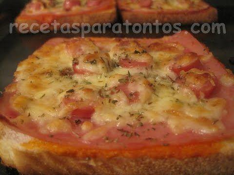 Minipizzas de pan de molde | Cocina