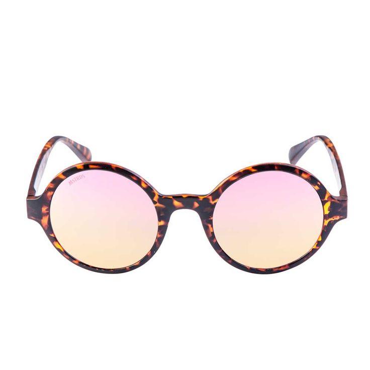 Urban Classics Retro Funk ronde zonnebril havanna/rosé - Urban Classic
