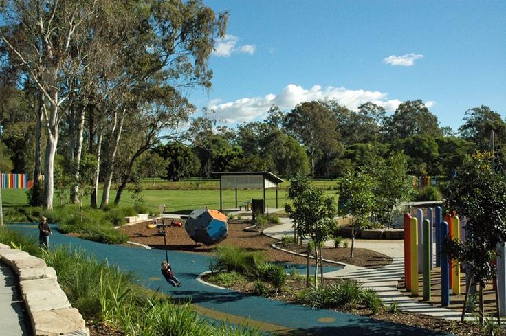 Capalaba Regional Park has a sensory playground.