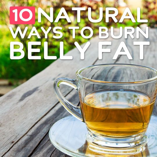 10 Natural Ways to Burn Belly Fat- and keep it off for good.