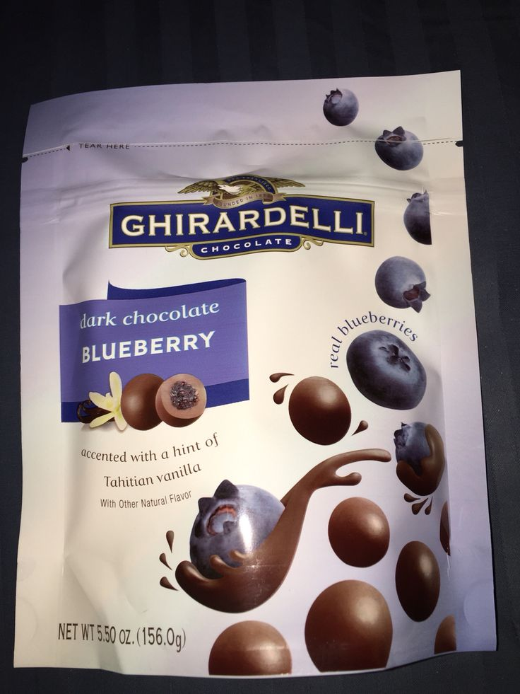 Ghirardelli dark chocolate blueberry accented with a hint of Tahitian vanilla