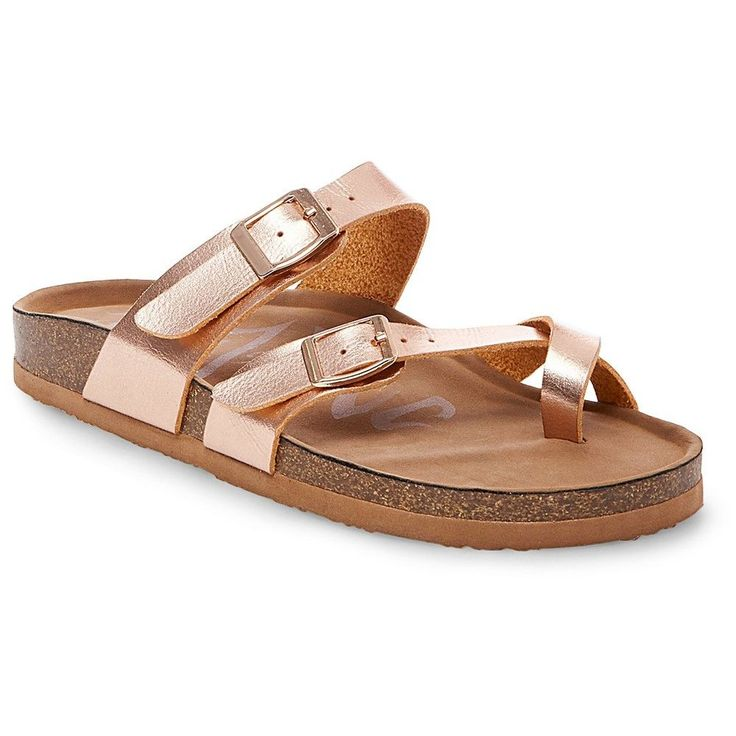 Women's Mad Love Prudence Footbed Sandals - Rose Gold 11