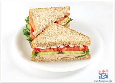 Mediterranean Turkey Sandwich from www.MapleLeaf.com