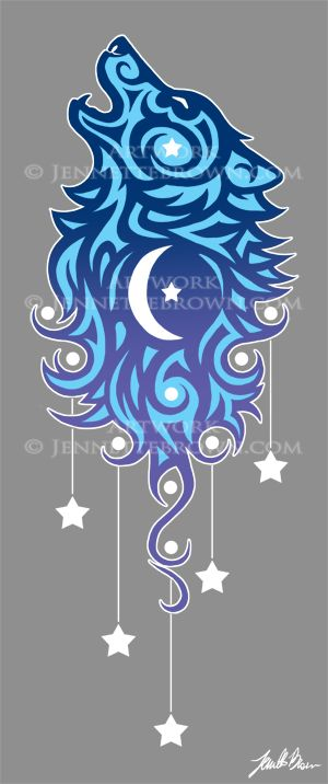 Star Tribal Wolf by =sugarpoultry on deviantART