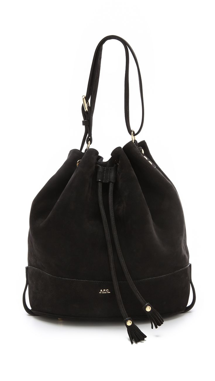 apc suede bucket bag closet handbags pinterest bags buckets and bucket bag. Black Bedroom Furniture Sets. Home Design Ideas