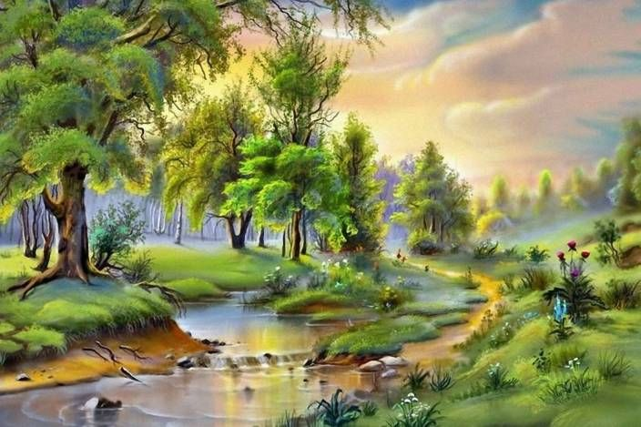 New Wallpaper Download Photo Landscape Paintings Nature Paintings Nature Art