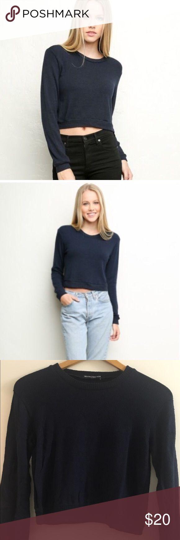 Brandy Melville Navy Blue Crop Top Sweater Brandy Melville Navy Blue Crop Top Sweater Size: One size (xs/small/medium) Color: Navy Blue Brandy Melville Sweaters