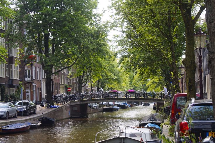 Canals and bridges in Amsterdam, Netherlands.