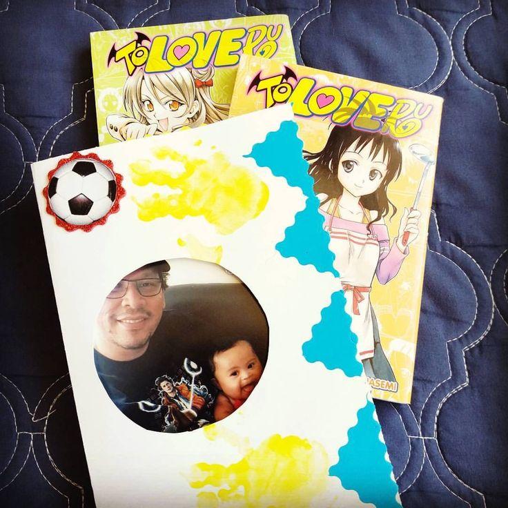 I love to be a geek dad!   #firstdadday #baby #geek #otaku #love #bestoftheday #happy #sweet #hana #花 #赤ちゃん #お父さん #父の日 #漫画 #sunday