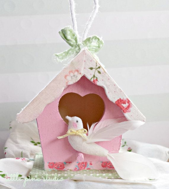 Sweet and Shabby Bird House Kit by littlepinkstudio on Etsy