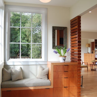 Love the built-ins with window seat! Mcm Bedroom Design @ houzz.com