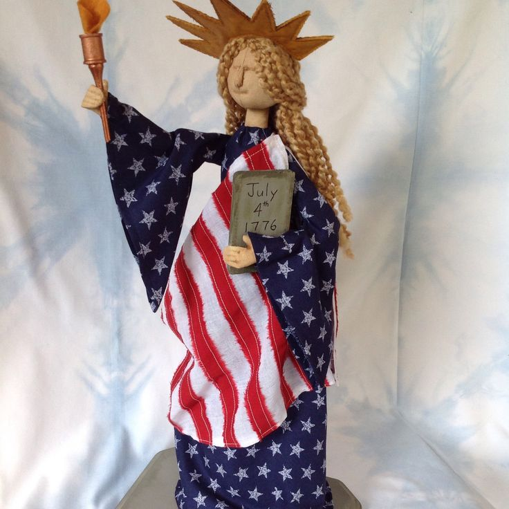 "Just finished ""Lady Liberty"" pattern just in time to help celebrate the 4th of July!"
