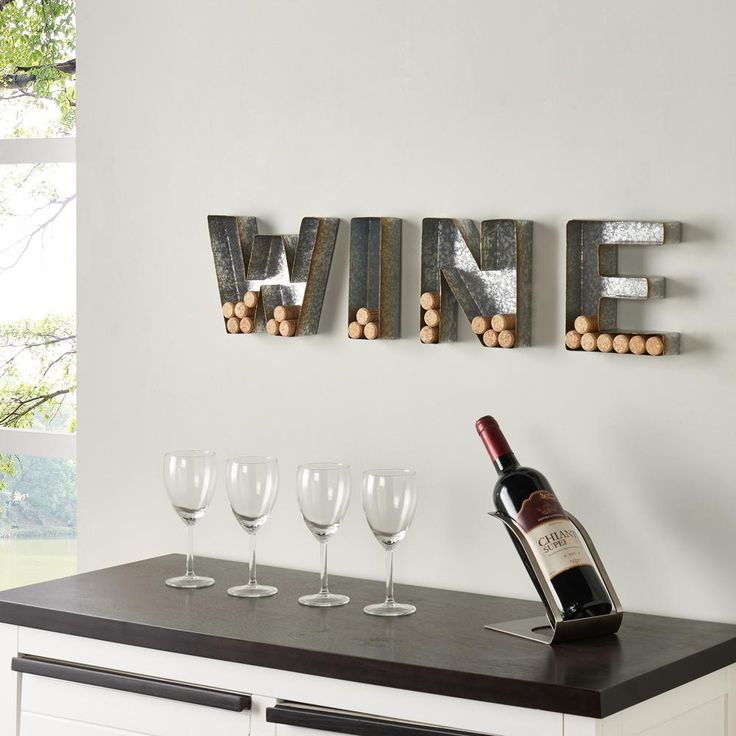 'wine' Galvanized Sheet Metal Letter Set for Corks