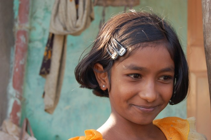 Girl in Bangalore, India by Colleen Kalida