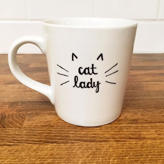cat lady coffee mug // fun coffee mug gift // gift for friend // cat lover // tea mug // funny mugs // unique gifts