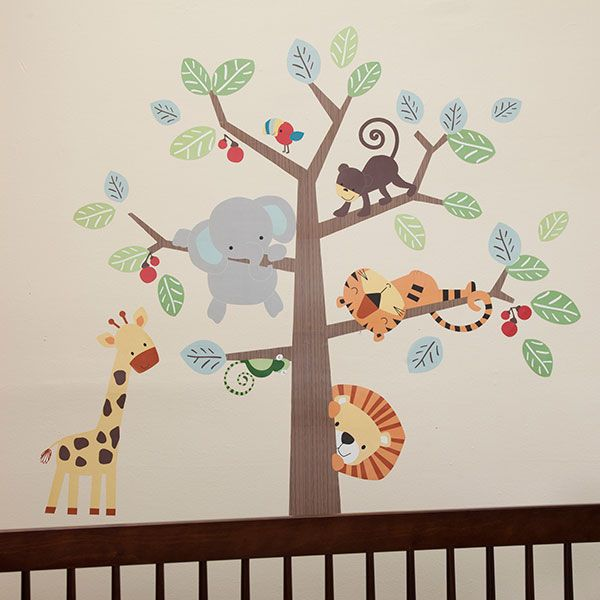 Treetop Buddies Jungle Animals Monkey Unisex Appliques Stickers Wall Decals in | eBay
