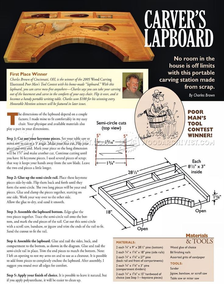 Portable carving station plan wood