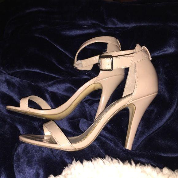 Steve Madden beige sandal heels Beige Sandals heels, 4 inches high and thin straps! Steve Madden Shoes Sandals