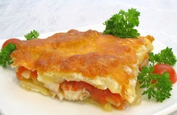 Fish with potatoes baked with mayonnaise