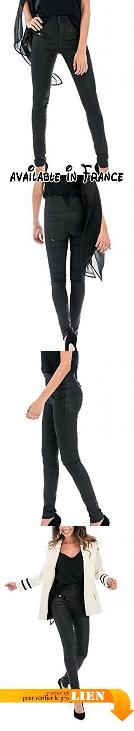B074WDQBZ8 : Salsa - Pantalon Diva Slim avec enduit - Femme - Noir.