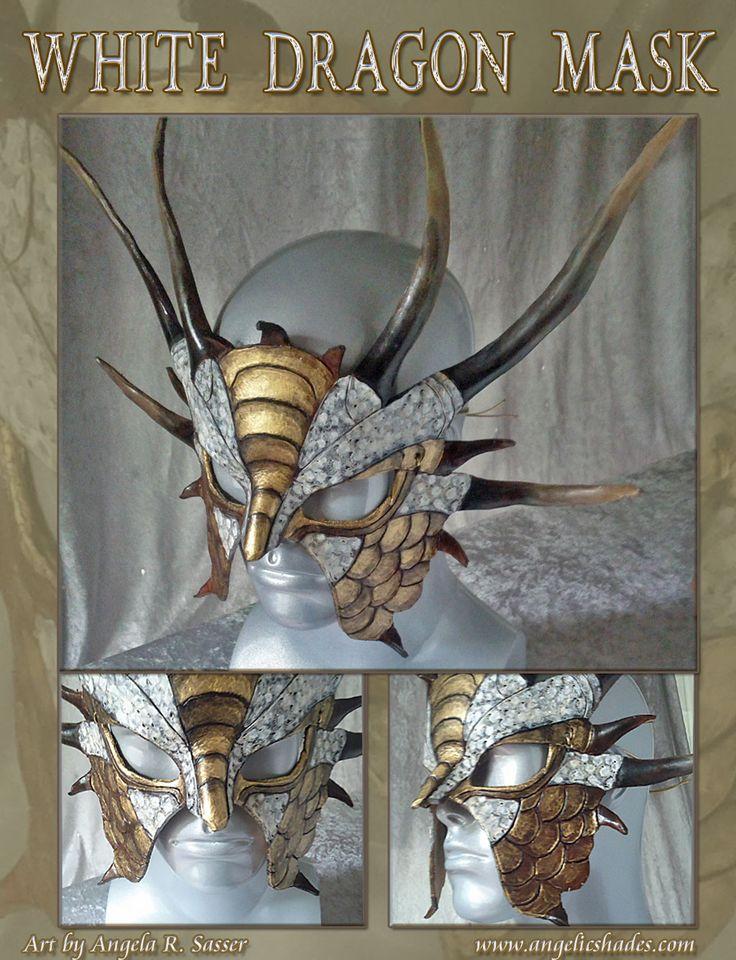 White Dragon Mask by AngelaSasser-artisan.deviantart.com on @deviantART