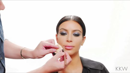 Kim Kardashian West's makeup artist Mario Dedivanovic shows you how to create perfectly lined lips in this short video featured on her app. See the full video and product information here.