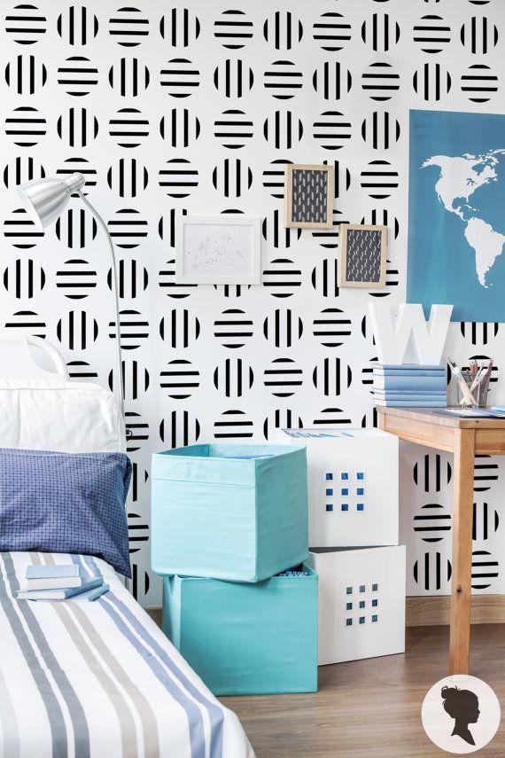 cercle ray e amovible motif papier peint a010 murs motifs pinterest cercles papier. Black Bedroom Furniture Sets. Home Design Ideas