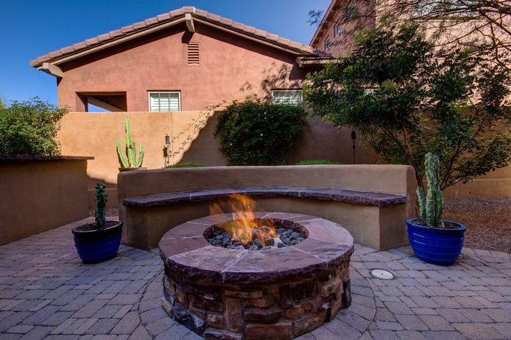 Fire pit, backyard, courtyard, s'mores time, Arizona Real Estate, Desert Design