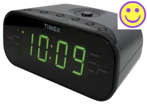The #Timex T231G has the look and features that are desired most in a modern day alarm clock. The large Green LED display on a black screen makes this clock easy...