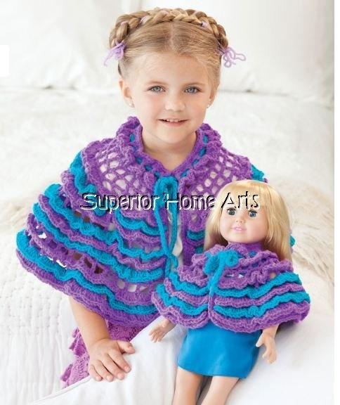 """Big Girl Little Girl Crochet Patterns Matching 18""""Doll ..."""