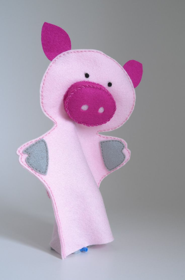 Pig puppets, hand puppet, hand puppets for children, puppet set, hand puppet set by FeltforAdults on Etsy