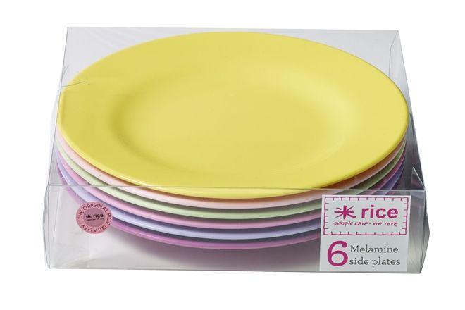 Rice Tallrik Melamin 6-pack Rosa