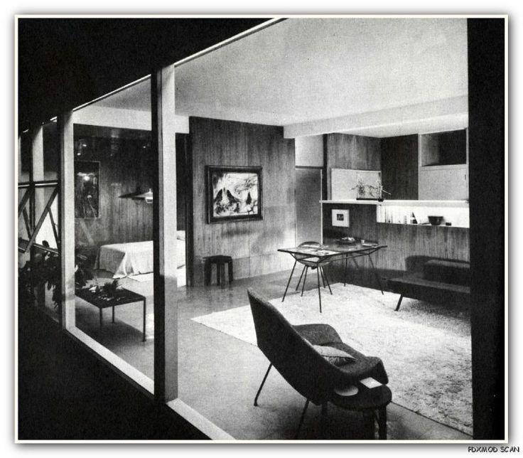1957 Eames Era Interior Decorating Design x Lib Mid Century Modern
