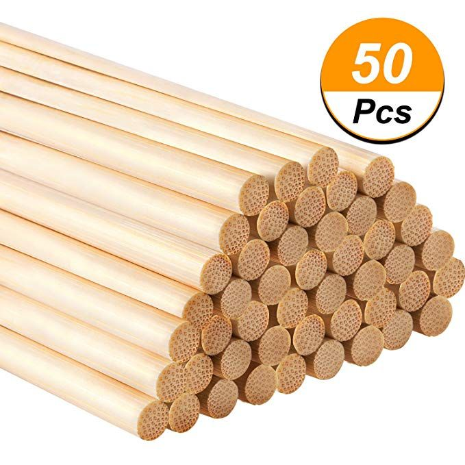 Hestya 12 Inch Long Bamboo Dowel Rods Craft Sticks For Craft Projects 50 Pack Craft Stick Crafts Bamboo Crafts Crafts