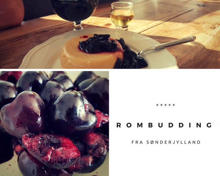 Rombudding med Kirsebærsauce #egnsretter #sønderjylland #ømf.dk