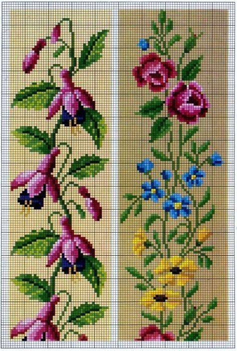 miniature needlework charts: