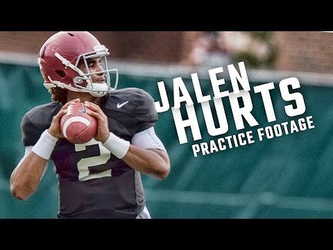 See how freshman QB Jalen Hurts is looking in practice   AL.com