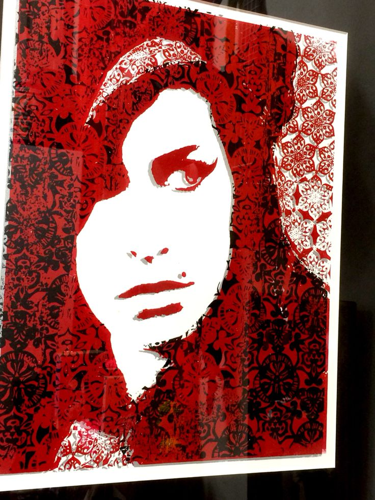 Amy Winehouse Screen and Lino Print