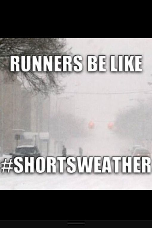 Runner Humor:Runners be like, shortsweather....YES!! Favorite time of year for running