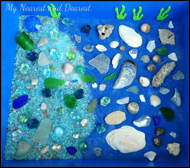 Ocean Floor Discovery Sensory Bin from My Nearest and Dearest