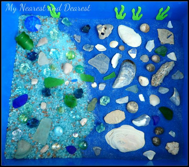 Ocean Floor Discovery Sensory Bin from My Nearest and Dearest
