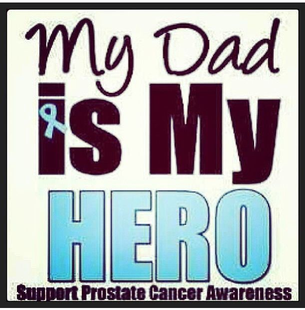 Prostate Cancer the disease that took my dads life.  I encourage all men to get tested more than once.  My dad was tested in 2002 at 69 years old.   He was never tested again because according to the doctors he was beyond the age to get that cancer.  He was diagnosed in October of 2012 and was already a phase 9 and 4 weeks later we found out the cancer was in his bones.  Dad passed away May 2014 in our home.  Miss you Dad #tothemoonandback