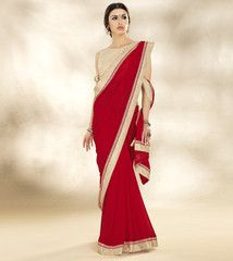 Red Color Georgette Party Wear Sarees : Nirjala Collection  YF-41607
