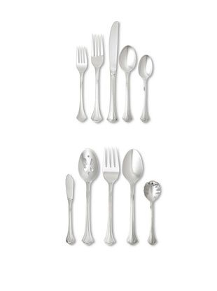 65% OFF Wallace 65-Piece Resplendence Flatware Set, Silver