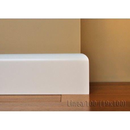 Listwa Lagrus Linea 100 to biała listwa mdf o wysokości 100 mm. Lekko zaokrąglona u górze doskonale przylega do ściany i komponuje się z każdym kolorem podłogi.