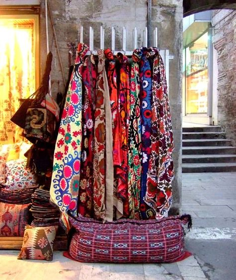 Mental note: Going to gorge on gorgeous fabrics in Turkey.
