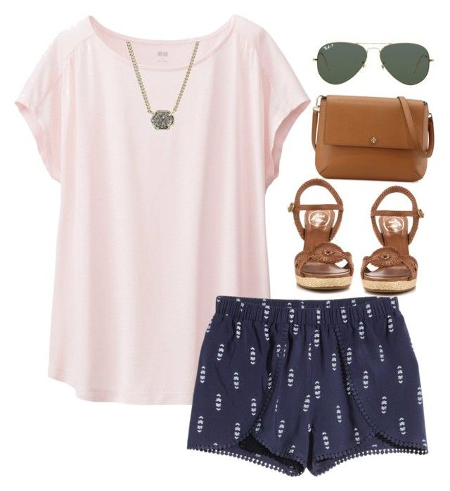 """You know my name not my story"" by sassysouthernprep99 ❤ liked on Polyvore featuring Uniqlo, Jack Rogers, Ray-Ban, Kendra Scott and Tory Burch"